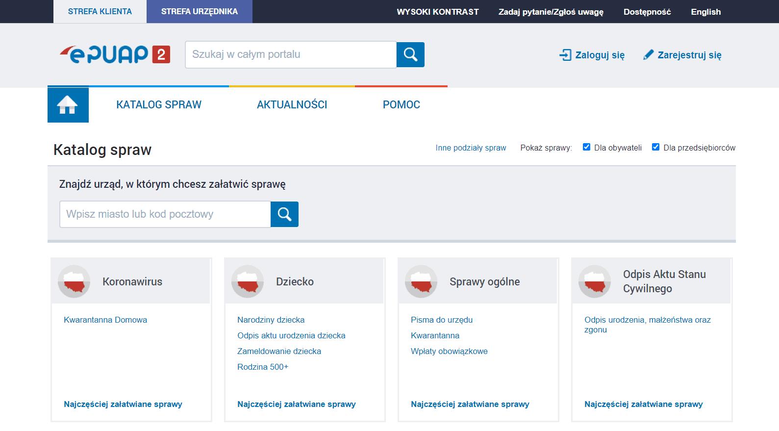 ePUAP to skrót nazwy Elektroniczna Platforma Usług Administracji Publicznej